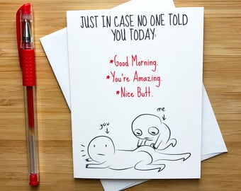 Cute Just Because Reminder Love Card, Touch My Butt, Cute Butt Card, Naughty Butt Card, Happy Anniversary Card, Inappropriate Love Card