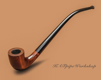 Personalized smoking pipe handmade from pear wood Churchwarden pipe Gandalf style Wooden tobacco long stem  pipe for smoking Gift for men