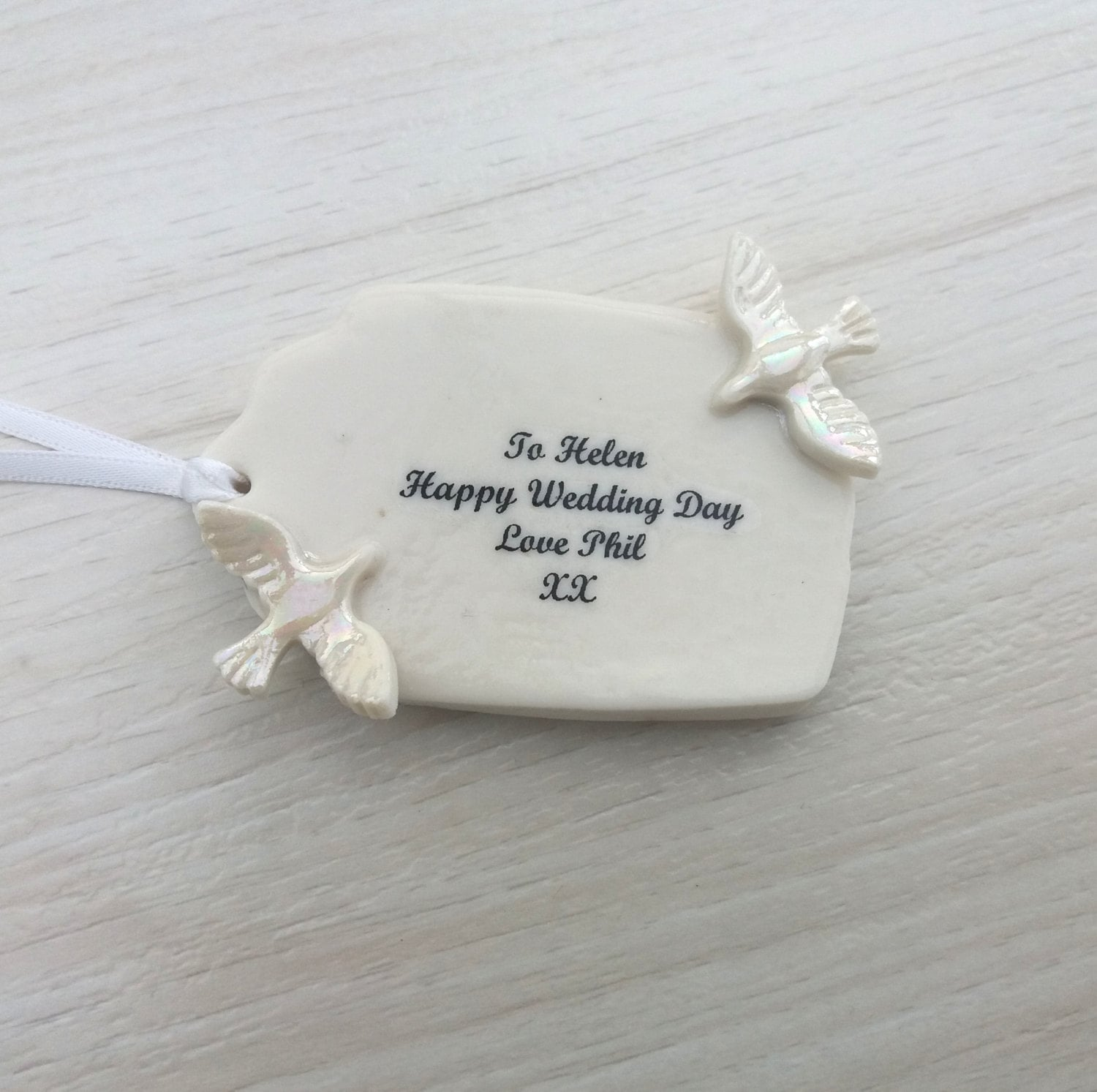Personalised Wedding Gift Tag Unique Wedding Gift Tag Ceramic
