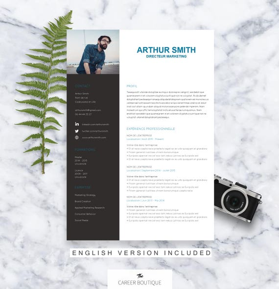 mod u00e8le de cv arthur resume template lettre de motivation