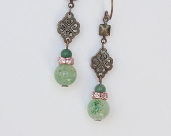 Lucky Earrings Dangle Drop Earrings Filigree Earrings Perfect Gifts For Her