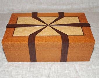 Handmade wooden box, jewelry box, watch box, valet box