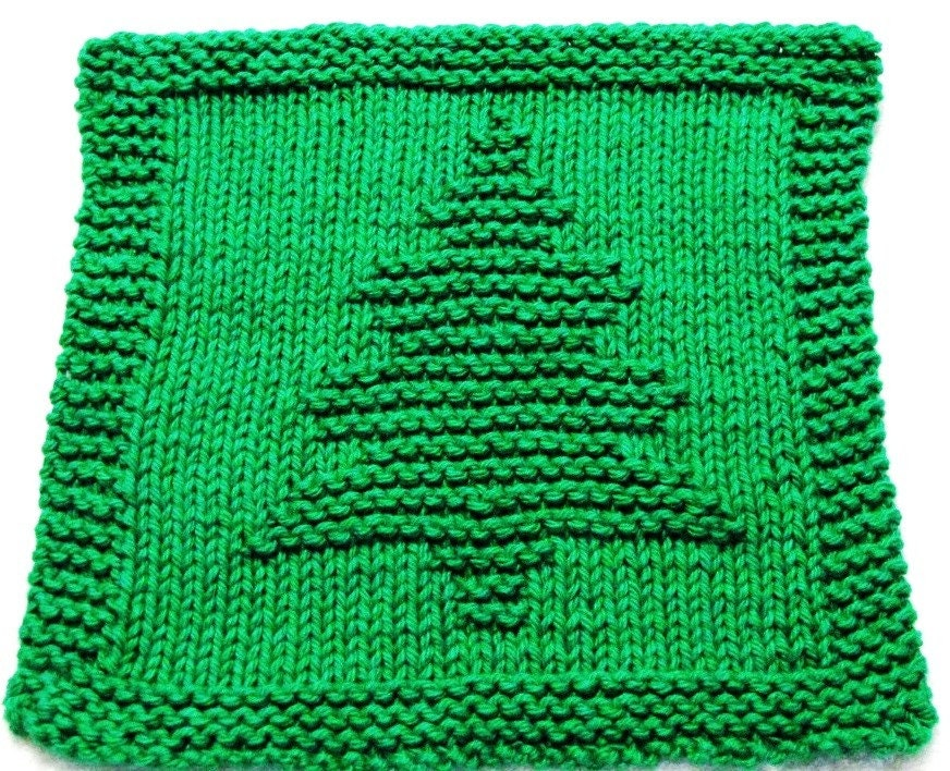 Knitting Cloth Pattern - CHRISTMAS TREE - PFD from ezcareknits on ...
