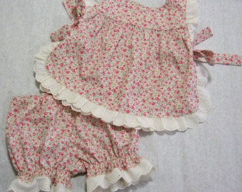 Baby girls pant and top sewing pattern - Isabelle Baby Set sizes 3 mths to 4 yrs - romper sewing pattern
