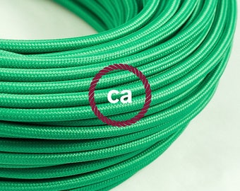 Green Rayon cloth covered cable RM06