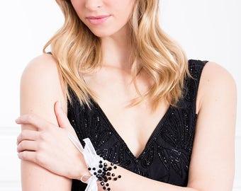 Limited Edition Black Corsage - Deep Black Wrist Corsage - Black  Corsage -  Wrist Corsage