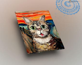 Edvard Munch The Scream Paint by Number with frame/ Skrik art/ scream art/ screaming face/ Cat screatm painting/ munch cat scream/ Acrylic