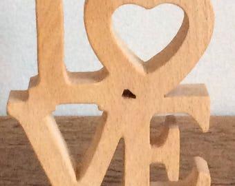 Freestanding Wooden 'LOVE' Word