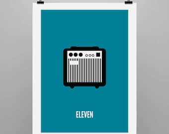 Eleven - Graphical Illustration Print