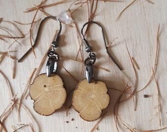Bodensee-driftwood-925 silver pierced earrings