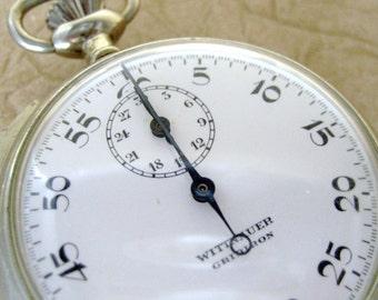 Vintage Wittnauer Gridiron Stop Watch  -  Swiss Made Circa Mid 20th Century