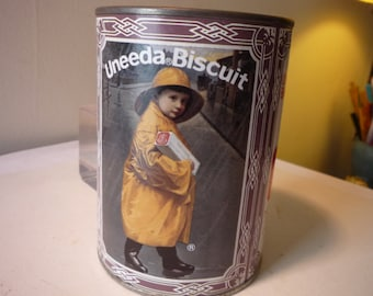 Biscuit Tin - Uneeda Biscuits - National Biscuit Company-  - Collectible Mini Cannister