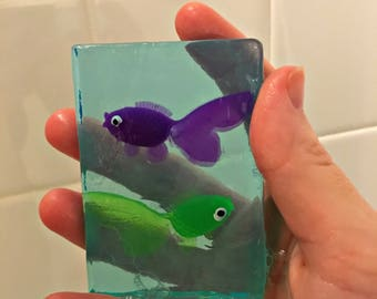 Fish soap favors, fish in the soap, Birthday favors