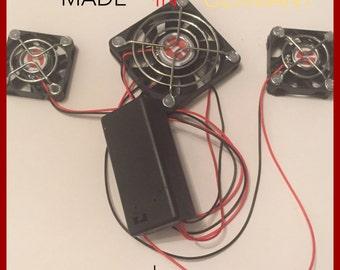 Triple Fan System OPLE Props Nano Advanced Fans Fan Triple Device Helmet & Mask Fresh Air Cooling Costume Cosplay