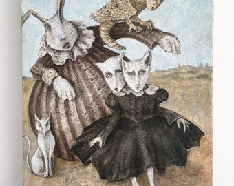 The Girls Original Acrylic Painting