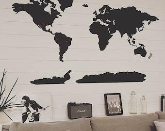 World map metal wall art 60 wide x 36 tall 5 world map metal wall decor art gumiabroncs Gallery