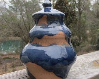 Custom Cremation Urn - Stoneware Cremains Jar - MORAINE
