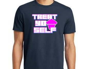 """The """"Treat Yo Self"""" Men's Crew Neck T-Shirt, inspired by Parks and Recreation"""