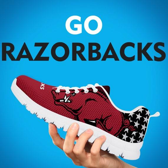 University Gift Gift Custom Sneakers Running Team Razorbacks Mens Kids Shoes Trainers Arkansas Collector Gift Womens Sizes PU1TqZwn