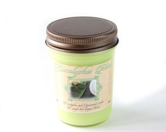Eucalyptus Mint - Natural Soy Candle - 8 oz