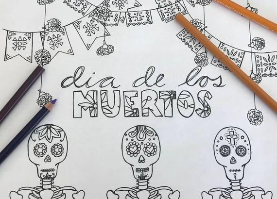 Dia De Los Muertos Coloring Page Detailed Coloring Page