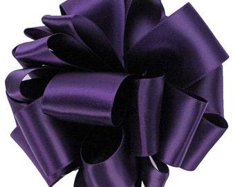 "Satin Ribbon, 1 1/2"" Double Face Purple Grappa - TEN YARD ROLL - Offray Purple #476, Double Sided Satin, Wedding Sash Ribbon, Sewing Trim"