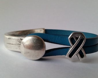 Ovarian Cancer Ribbon Bracelet/Trigeminal Neuralgia Awareness Bracelet