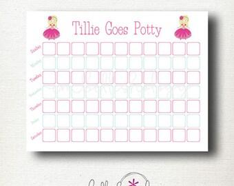 Custom Prince or Princess Potty Training Chart with Optional Matching Reward Certificate