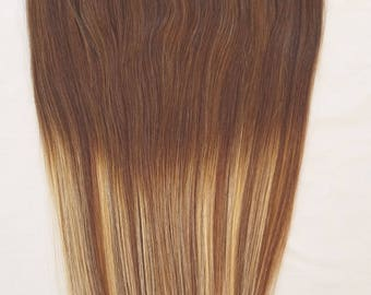 20inches 100% HALO Style Ombre BALAYAGE Human Hair Extensions (ONE Piece No Clip) Ombre  #T2-6/613