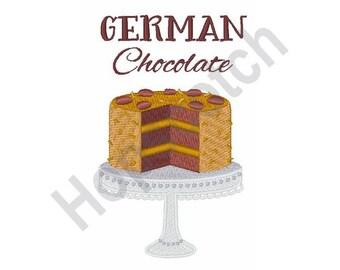 Cake - Machine Embroidery Design, German Chocolate