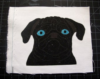 Black Pug Patch