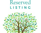 Reserved  listing for Zac...