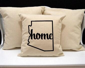 Arizona Home Pillow, Arizona Pillow, home pillow, pillow gift, Arizona gift, Envelope Pillow Cover, state pillow, AZ pillow, 20x20 pillow