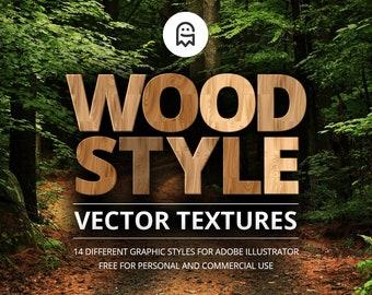 Holz-Stil Vektor Texturen für Illustrator