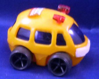 Vintage Eggcrate School Bus Toy Vehicle, 1970s