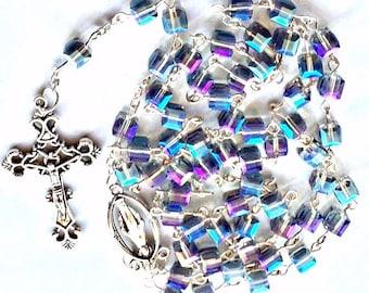 Vintage Style AAA Austrian Crystal Rosary Beads
