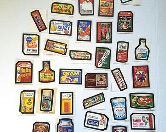 33 Topps Wacky stickers / cards . Wacky Packies, Wackies. Wackys. TCG. Topps Chewing Game. Nostalgia. Vintage advertising