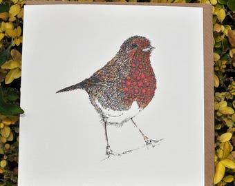 Red Robin Greeting card 6x6''