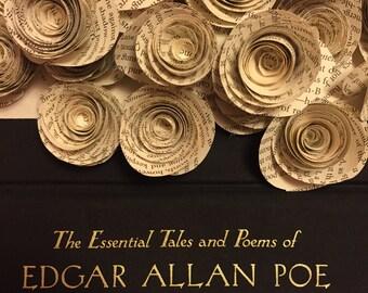 25- Edgar Allan Poe Book Page Roses