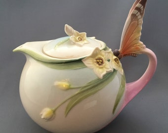 Franz Papillion Butterfly Teapot XP1878.