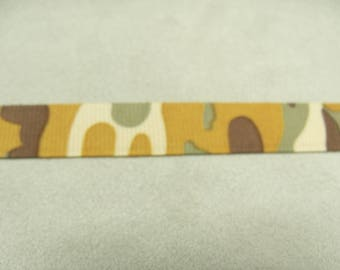 MILITARY camouflage - 1.5 cm - yellow ribbon