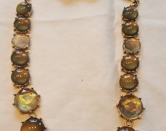 Amazing Vintage Moonstone & Quartz Neclace and Earring Set