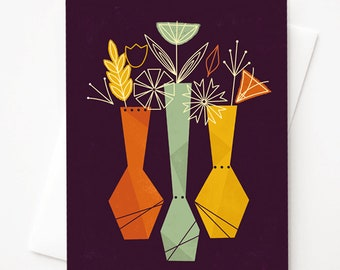 Blooming Outside the Lines, Blank A2 greeting card with envelope by Amber Leaders