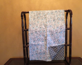 Baby Boy Quilt with Dogies