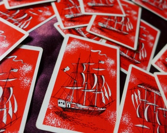 Red Ship Pirates Playing Cards