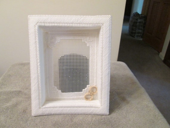 Shadow Box Photo Frame for Wedding in Plastic Canvas from ...