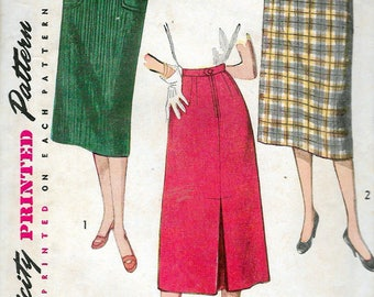 """Vintage 1959 Simplicity 4377 """"Simple To Make"""" Skirt Sewing Pattern Size Waist 27"""" Hip 36"""""""