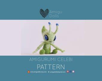 PDF Celebi amigurumi, pokemon pattern, amigurumi pattern, crochet pattern, pokemon crochet, crochet toy, pokemon go, pokemon gifts, plush