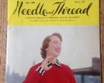 Vintage Pattern Booklet, Needle and Thread, Vintage Embroudery Magazine, Quarterly Magazine 1960's, Vintage Ephemera