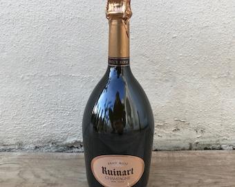 EMPTY Display 0.75L Sealed Dummy Champagne Bottle RUINART Rose 2203187